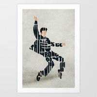 elvis presley Art Prints featuring Elvis Presley by Ayse Deniz