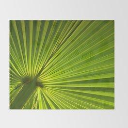 Palm Leaf Throw Blanket