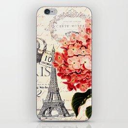 Paris and Hydrangea iPhone Skin