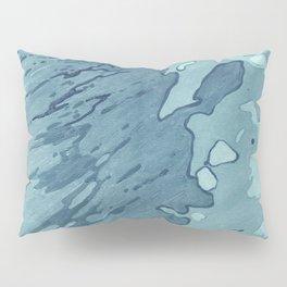 Aqua Shoreline Pillow Sham