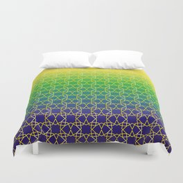 Geometry Star Pattern Yellow Green Blue Duvet Cover