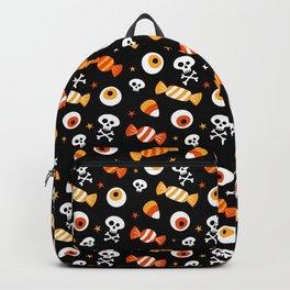 Fun Candy Corn Skulls Eyeballs Halloween Design Backpack