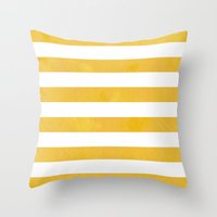 striped Throw Pillows featuring Striped by TT Smith