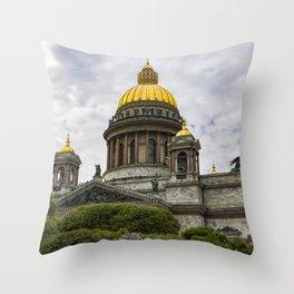 Saint Isaacs Cathedral Saint Petersburg Throw Pillow