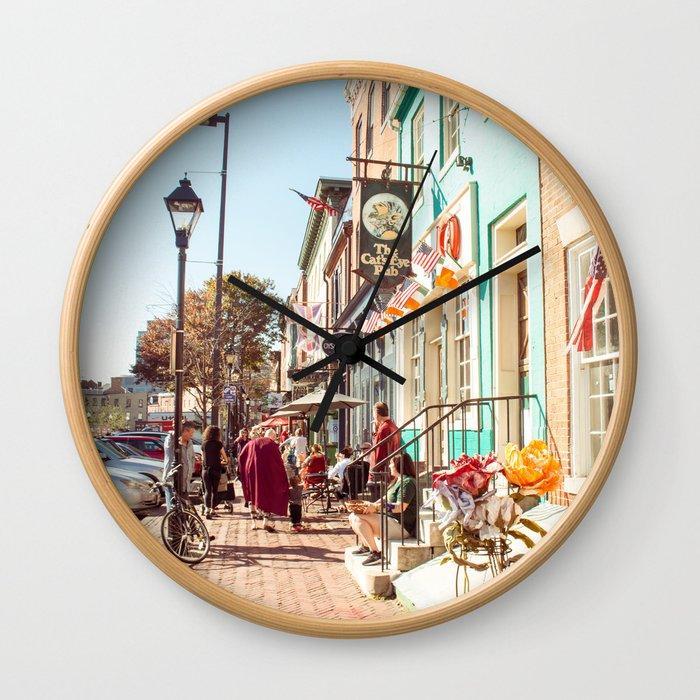 Street in Baltimore Wall Clock