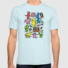 Haring - Simpsons Mens Fitted Tee Light Blue X-LARGE