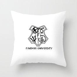 fandom university  Throw Pillow