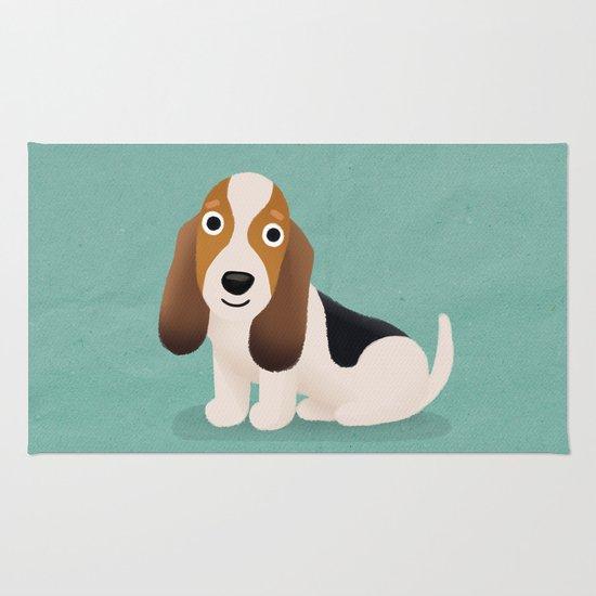 Basset Hound - Cute Dog Series Rug
