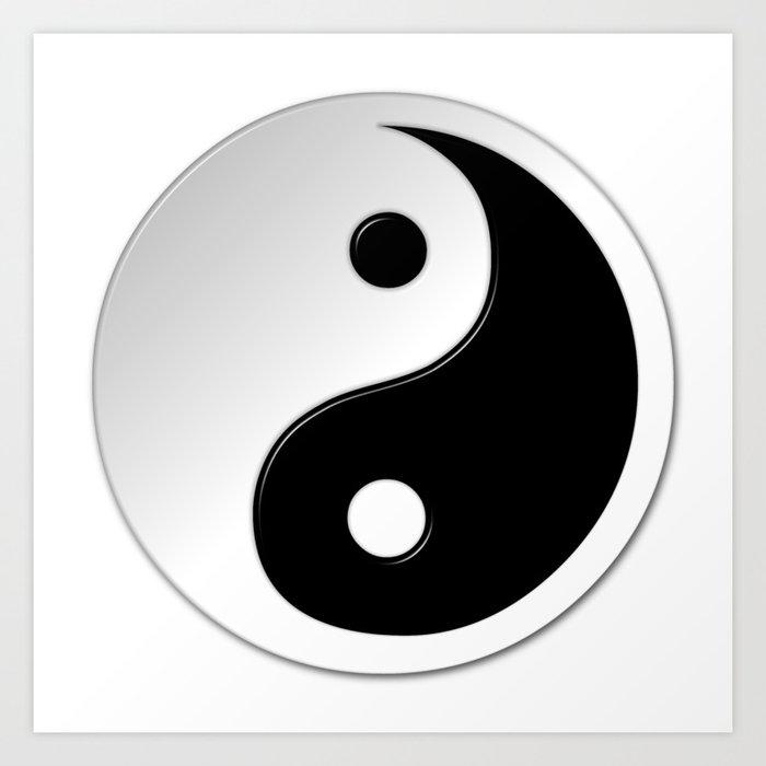 Yin Yang Symbol Art Print By Markuk97 Society6