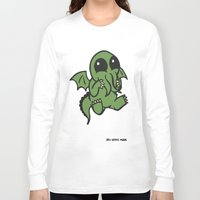 cthulu Long Sleeve T-shirts featuring Cute Cthulu  by Nikki Hung