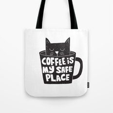 coffee is my safe place Tote Bag