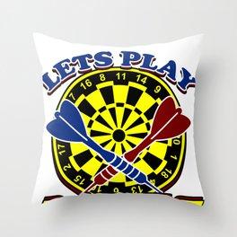 Darts Dartboard Arrows  Target  Games Sports Gift  Throw Pillow