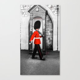 The Queens Red Guard Canvas Print