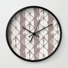 Simply Braided Chevron Red Earth on Lunar Gray Wall Clock