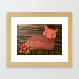 Fiber Fox Framed Art Print