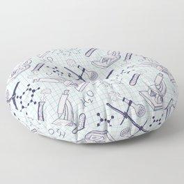 science graph paper Floor Pillow