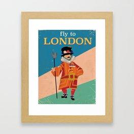 Vintage London England travel poster Framed Art Print