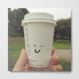 Smile coffee Metal Print