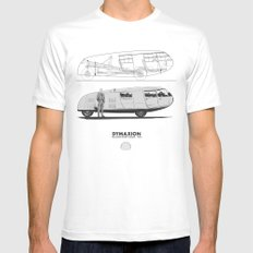 Dymaxion White X-LARGE Mens Fitted Tee
