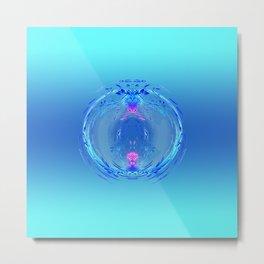 Decorative Ball in pastel blue & pink Metal Print
