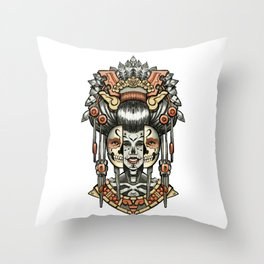 Two Ages of Woman Throw Pillow