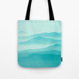 mint sunrise layers Tote Bag