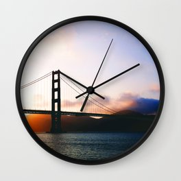 Golden Gate Bridge Sunrise, San Francisco Bay Wall Clock