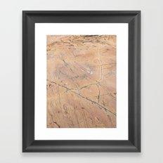 sea stone Framed Art Print