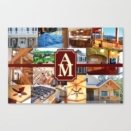 A&M Building Gear Canvas Print