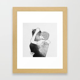 Feel me your world. Framed Art Print