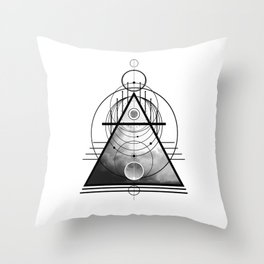Wicca Air Element Symbol Pagan and Witchcraft Triangle Throw Pillow