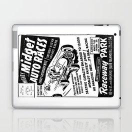 Midget Auto Races, Race poster, vintage poster, bw Laptop & iPad Skin