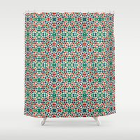 batik Shower Curtains featuring Christmas Batik by Kaleidoscope Patterns!