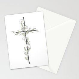 Cross With Little Flowers Stationery Cards