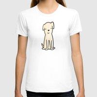 golden retriever T-shirts featuring Golden retriever watercolor by Chloe Meister