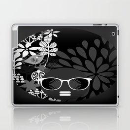 Afro Diva : Sophisticated Lady Black & White Laptop & iPad Skin