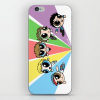 cyrilliart iPhone & iPod Skins featuring Powerpuff!Direction by Cyrilliart