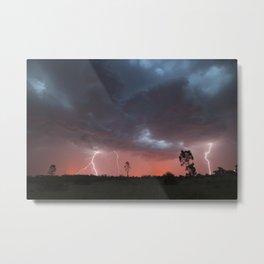 Bendigo Sunset Storm Metal Print