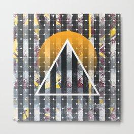 Polarized - triangle sunset Metal Print