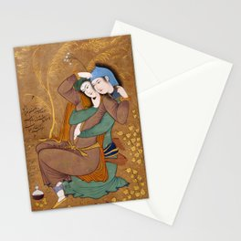 Two Lovers by Riza-yi `Abbasi Stationery Cards