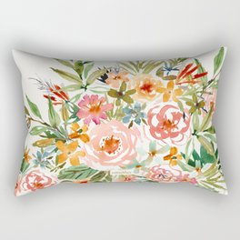 SMELLS LIKE LOVE IN ALL FORMS Floral Rectangular Pillow
