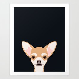 Misha - Chihuahua art print phone case gift for dog owner and dog people Art Print
