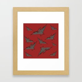 Pterosauria red Framed Art Print