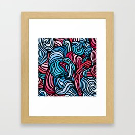 Swirl Design -- Pink & Blue Framed Art Print