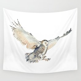 Arctic Snowy Owl Wall Tapestry