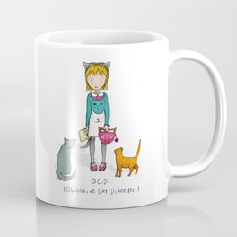 OCD - Obsessive Cat Disorder - Crazy Cat Lady Coffee Mug