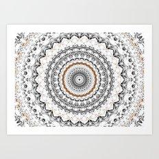 Black, Gold, and White Art Print