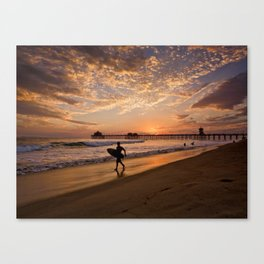 Surf City Sunsets   9/10/15   Huntington Beach California  Canvas Print
