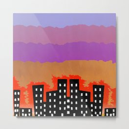 Sunset on the City Metal Print