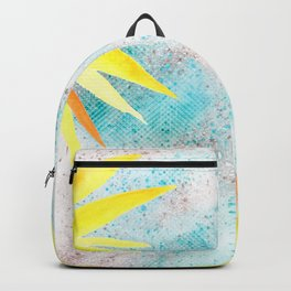 Yellow In glitter Backpack